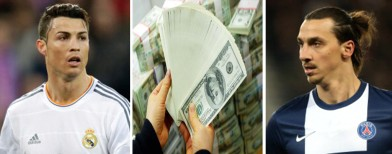 Cristiano Ronaldo / money / Zlatan Ibrahimovic (Getty Images)