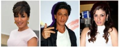 Spotted: Chitrangada, Raveena and SRK