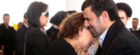Iran president slammed for 'forbidden' hug
