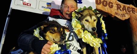 Iditarod champion's record-setting victory