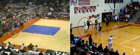 Prep team eerily reenacts famous Duke play