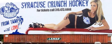 Hockey team's 'sexy' billboard turns heads