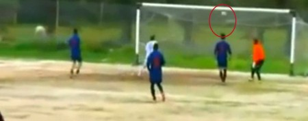 Soccer player's infuriating missed goal