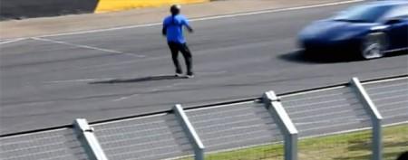 Stuntman's risky Lamborghini challenge