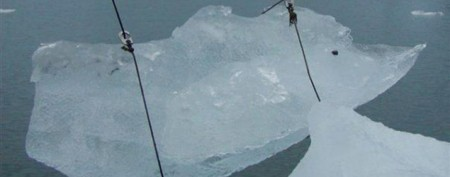 Surprising reason man collects icebergs