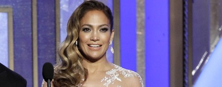 J.Lo becomes a fashion follower in a nude dress