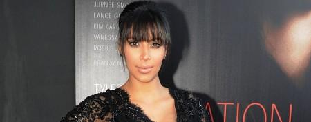 Kim Kardashian rocks lacy maternity look
