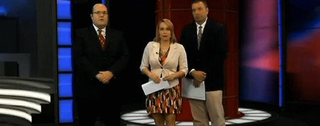 Newscaster reads her own marriage proposal