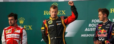 Raikkonen delivers dream start for Lotus