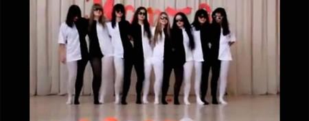 Bizarre dance creates optical illusion