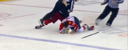 Hockey 'tough guy' taught a painful lesson
