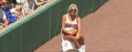 Bad day for spring training ball girls
