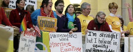 Fate of gay marriage may rest with one man