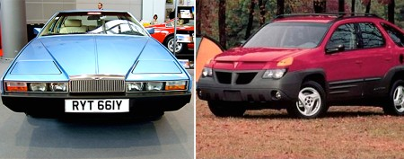 Ugliest cars of all time (not just the Aztek)