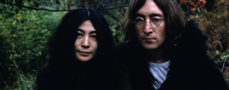 Yoko Ono shows Lennon's bloody glasses