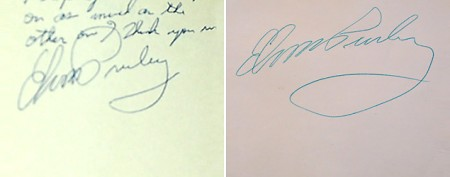 Can you spot the real Elvis Presley signature?