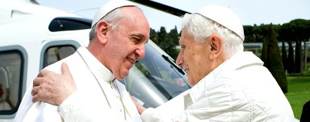 Pope Francis to Benedict: We're brothers