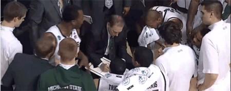 Coach's glare quells curious towel flap