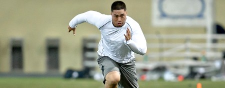 Manti Te'o turns heads at pro day