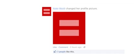 Visual display of support for gay marriage