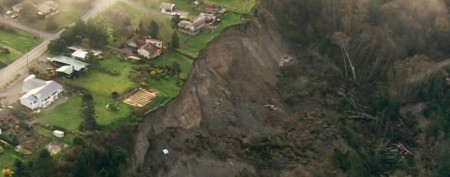 Massive mudslide inflicts major damage