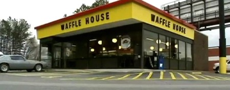 Waffle House waitress saves customer