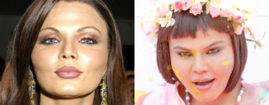 Rakhi Sawant paints on a new face