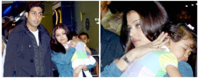 Aaradhya's tiring day out