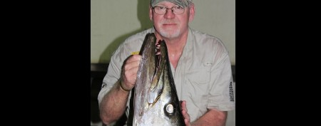 What a catch: Man snags monster barracuda