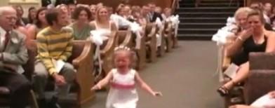 When kids walk down the aisle !