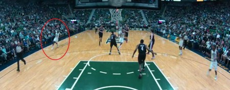 NBA alley-oop's incredible starting point