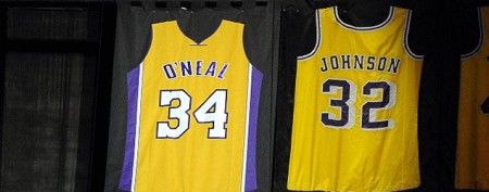 Spot the mistake on Shaq's retired jersey?
