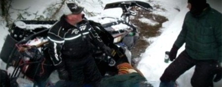 Man trapped under snowmobile for 20 hours