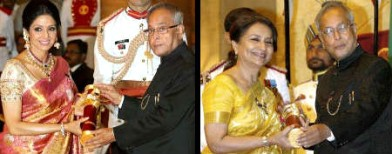 B-town celebs receive Padma Awards