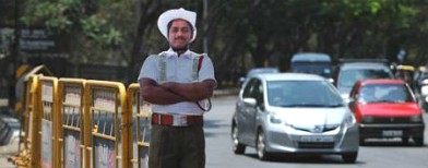 Meet the cardboard cops of Bangalore
