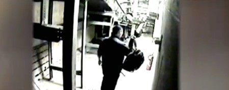 Airport baggage handler caught on tape