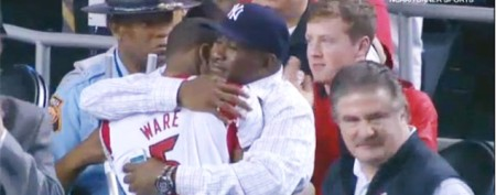 Emotional moment for injured NCAA player