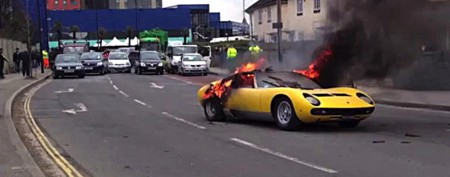 Watch: 'Priceless' Lamborghini bursts into flames