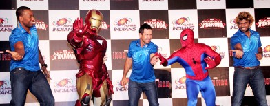 Cricket heroes meet Superheroes