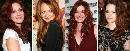 Which stars are natural redheads?