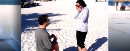 Celebrity's surprise marriage proposal assist