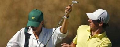 Tennis ace turns golf caddie