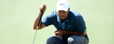 Under fire, Tiger ends where he started