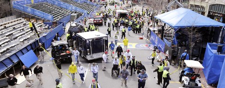 Newtown families, runners safe but shocked