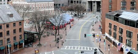 Boston streets deserted in wake of manhunt