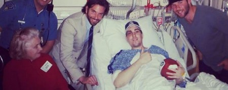 Bradley Cooper visits Boston bombing victim