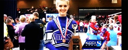 Cheerleader battles back from tragic accident