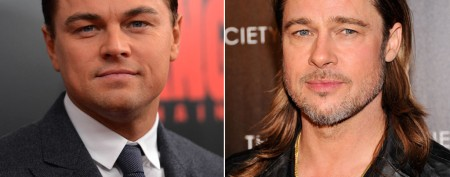 Leonardo DiCaprio and Brad Pitt at the wheel