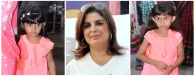 Spotted: Farah Khan and daughters