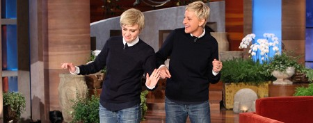 Ellen's show hijacked by her doppelganger